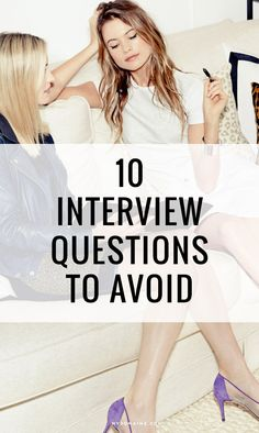 These are the questions your interviewer CANNOT ask // interview questions, career advice