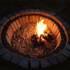 Backyard Fire Pit inground....like it in the ground!!