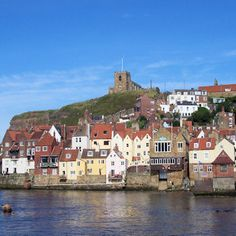 St. Mary the Virgin (on top of the hill) Whitby. Pam knew I would love it here.
