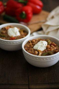 Crock Pot Shredded Chicken Fajita Chili Recipe