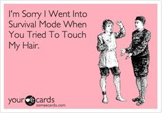 I'm Sorry I Went Into Survival Mode When You Tried To Touch My Hair