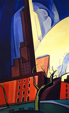 Circles of Washington Square by Oscar Bluemner by vintagepostercompany on Etsy
