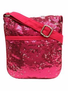 $8.90 Fuchsia Magic Sequin Mini Cross Body Bag