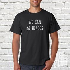 Davd Bowie shirt we can be heroes Ziggy stardust Glam by TeeClub