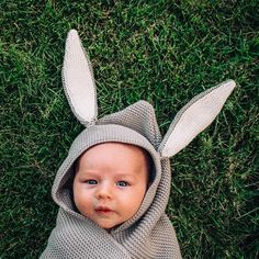"""Our bunny blanket has become a classic. Approximately 30""""x37"""" with a hood and bunny ears, it's perfect for wrapping up baby in cuteness and warmth. 100% Baby Alpaca. Made in Peru."""