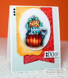 Feeling Fall stamp set by Power Poppy, card design by Cindy Lawrence.