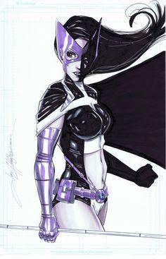 Huntress by Jon Hughes via Gail Simone. Comic Book Superheroes, Dc Comic Books, Comic Art, Comic Book Characters, Comic Character, Female Characters, Batman Girl, Batman And Superman, Heroes For Hire