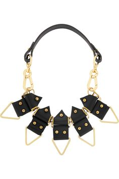 Finds|+ Moxham Anubis gold-plated and leather necklace|NET-A-PORTER.COM