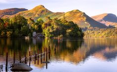 Canoeing, Derwent Water, Keswick, Lake District, Cumbria, England