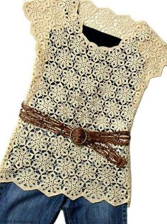Blusa de crochê feita com motivos unidos.. A trama fica com aspecto delicado e rendado. Grafico Motivo da Blusa ...