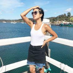 Jennifer Nini editor Eco Warrior Princess wearing sustainable denim from Nobody Denim