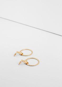 Hoop earrings - Jewellery for Women | MANGO USA