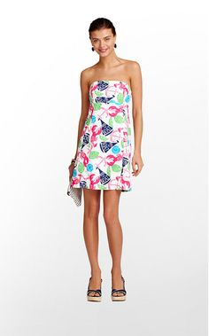 Clyde Dress in Resort White Summer Classics by Lilly Pulitzer $178