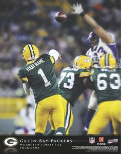 Green Bay Packers QB Welcome to Heaven - http://touchdownheaven.com/category/categories/green-bay-packers-fan-shop/