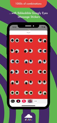 #Ibbleobble #googlyeyes #stickers for #iMessage are guaranteed to add some pizzazz to any conversation between friends!... Give it a download!  . www.iblobl.com/... .  #iphone #ipad #app #fun #21stCenturySkills #21stedchat #DigitalCitizenship #GlobalEd #GlobalEdChat #GrowthMindset #SEL #SmartPlanet #EdChat #EdLeaders #Edu #Educati