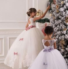 Flower Girl Dress Tutu Baby Gown Organza Backless Party Birthday Princess Dress* in Clothing, Shoes & Accessories, Wedding & Formal Occasion, Girls' Formal Occasion   eBay
