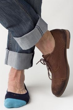For a no-see-sock look, go with no-show loafer liners...