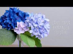 Crepe Paper Hydrangeas - YouTube