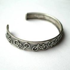 Lots Of Bicycles Silver Cuff Bracelet - Silver Chamber Online Store