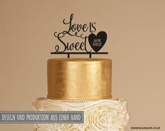 Love Is Sweet, Cake Toppers, Place Cards, Place Card Holders, Etsy, Design, Cute Love, Hochzeit, Decorations