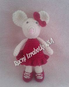 A K C I J A ! So naracka na racni izrabotki vo vrednost od najmalku 600 denari sleduva podarok racno izrabotena 3D igracka :) #racniizrabotki #punëdore #crochet #amigurumi #toy #mouse #angelinaballerina by racniizrabotkipunedore