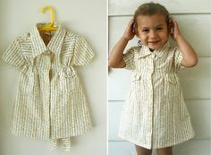Toddler dress made from a man's shirt! OMG i have a million men's shirts! (well my hubby does...)