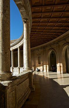 Palacio Carlos V arriba  Granada  Spain