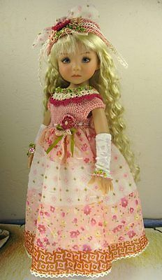 """Dianne Effner Little Darling 13"""" Doll OOAK Outfit """"A Rose Is A Rose"""" by Janet 
