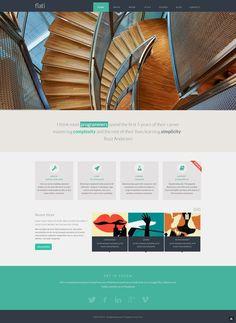 Flati - #Responsive #Flat Design #Bootstrap #Template $14