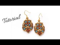 "Tutorial perline: orecchini ""Summertime""