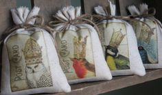 Lavender Sachets, French Farmhouse, Crowns, Birds, Wedding Favors, Vintage, Bridesmaid Gifts, Party Favors
