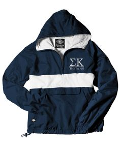 Sigma Kappa Windbreaker by Adam Block Design   Custom Greek Apparel & Sorority Clothes   www.adamblockdesign.com