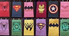 Superhero party favor bags are super cool for your super hero fans!! If you are getting one solid color please pick the quantity you need and hero of your choice and please include which color bag you are looking for in the notes during check out. All bag prices come standard as the