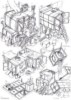 container city, Vasily Khazykov on ArtStation at https://www.artstation.com/artwork/6wOn5