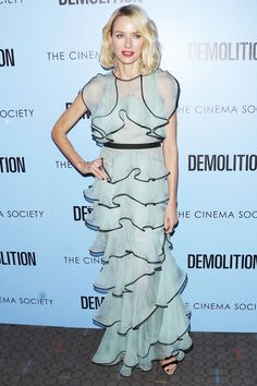 15 Celebrities Teach Us How to Rock Ruffles (without Looking Too Girly) - Naomi Watts - from InStyle.com