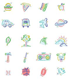 AIRBNB Icons forCreate Airbnb, a site that lets you make your own symbol of belonging to represent your home, your adventures, and your sto...