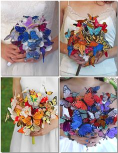 Diy Bouquet, Brooch Bouquets, Butterfly Wedding Theme, Wedding Colors, Wedding Bouquets, Wedding Flowers, Diy Butterfly, Diy Wedding Decorations, Baby Crafts