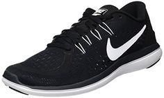 71f27e5d89226 NIKE Women s Flex 2017 RN Running Shoe Black White Anthracite Wolf Grey Size