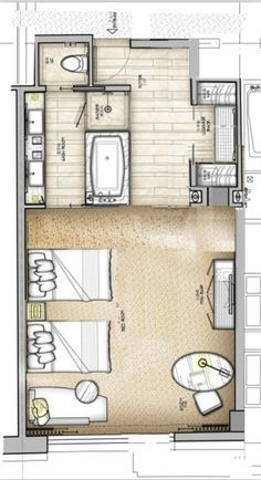 Hotel Room Plans Designs https://www.pinterest/keziakarin/hotel-resort/ | layouts