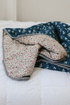 Single Bed Sleeping Bag | Chambray with flowers