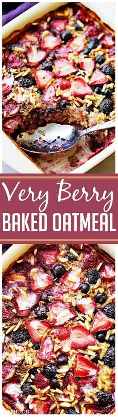 Get the recipe ♥ Very Berry Baked Oatmeal @Best to Eat!
