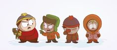 Detoured from Little Shop of Horrors to draw like a butt ton of South Park fanart. More to come…