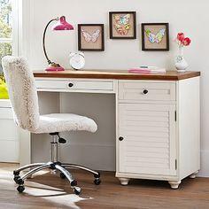 Whitney Cabinet Pedestal Desk #pbteen