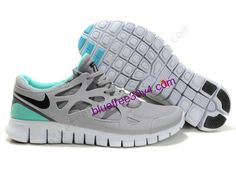 Nike Free Run 2 Shield US Size 8.5 Grey Black Turquoise Womens Shoes