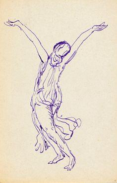 19/1/14 fluid, simple line drawing. DANSER SA VIE - 现/当代舞蹈对视觉艺术的影响展 Isadora Duncan by Antoine Bourdelle