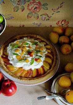 Summer peach and vervain tart- experiment with black, green, or white tea instead of vervain.