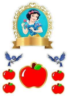 Topo branca de neve Disney Princess Birthday Party, Princess Theme Party, Hibiscus Clip Art, Snow White 7 Dwarfs, Diy Best Friend Gifts, All Disney Princesses, Snow White Birthday, Edible Printing, Snow White Disney