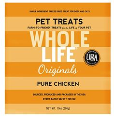 Whole Life Pet Single Ingredient USA Freeze Dried Chicken Breast Treats Value Pack for Dogs and Cats 10Ounce >>> Check out this great product.