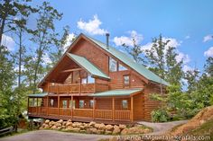 """The 4 bedroom log cabin rental named Majestic View I (also know as Majestic View """"A"""") will accommodate up to 14 people and is located in the Brother's Cove Resort in the foothills of the Great Smoky Mountains National Park in the Pigeon Forge - Wears Valley area of the Smokies."""