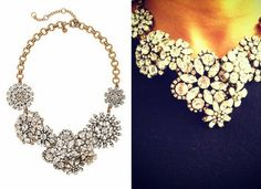Here's a super easy DIY of a $200 necklace you can do for a buck.   Below is theinspiration necklace from J. Crew  that sold for $228 an...